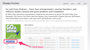 How to submit a rating and review on iTunes for the Go and Grow Podcast